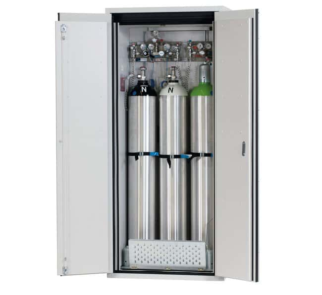 asecos™ Type 90 Gas Cylinder Cabinet G-ULTIMATE-90 Capacity: Up to 3 x 50-litre gas cylinders, Description: Comfort interior equipment gas cylinders asecos™ Type 90 Gas Cylinder Cabinet G-ULTIMATE-90