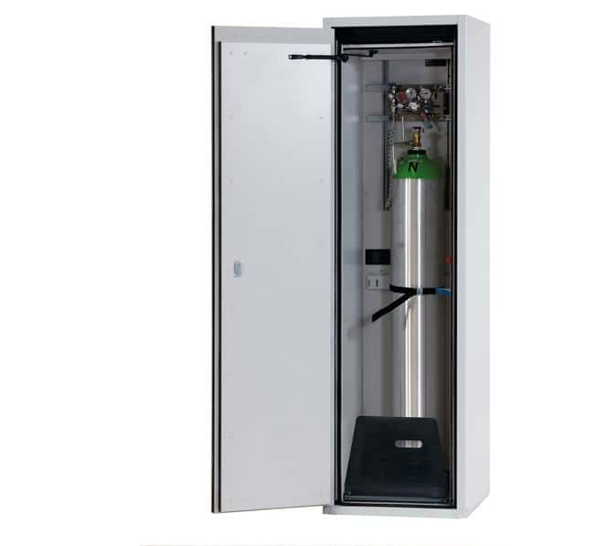 asecos™Type 90 Gas Cylinder Cabinet G-ULTIMATE-90 Capacity: Up to 1x 50-litre gas cylinders or 2x 10-litre gas cylinders, Description: Standard interior equipment gas cylinders asecos™Type 90 Gas Cylinder Cabinet G-ULTIMATE-90