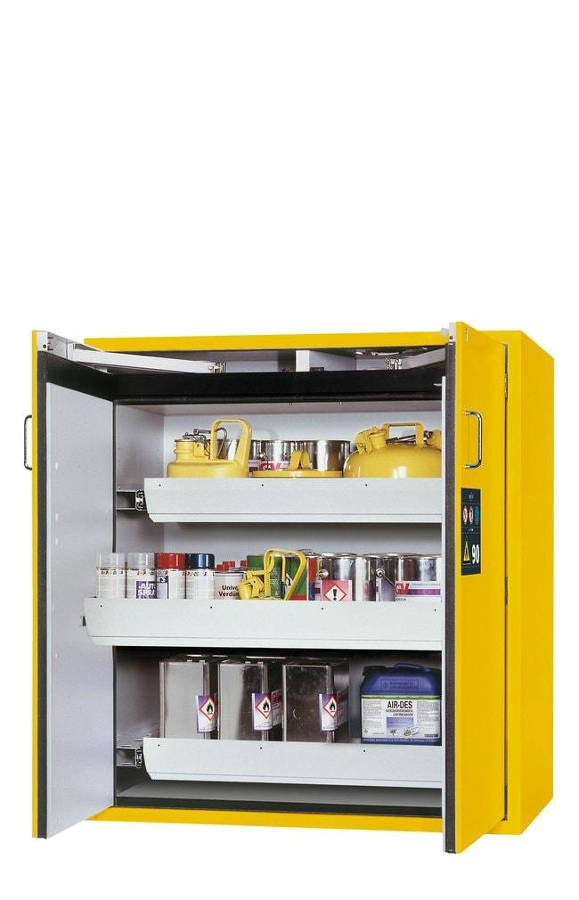 asecos™Armoire de stockage de sécurité de type90 S-CLASSIC-90 avec système de blocage des portes (jaune) 3xtiroirs (tôle d'acier revêtue de poudre), hauteur: 1298,00 mm, Largeur: 1196,00 mm asecos™Armoire de stockage de sécurité de type90 S-CLASSIC-90 avec système de blocage des portes (jaune)