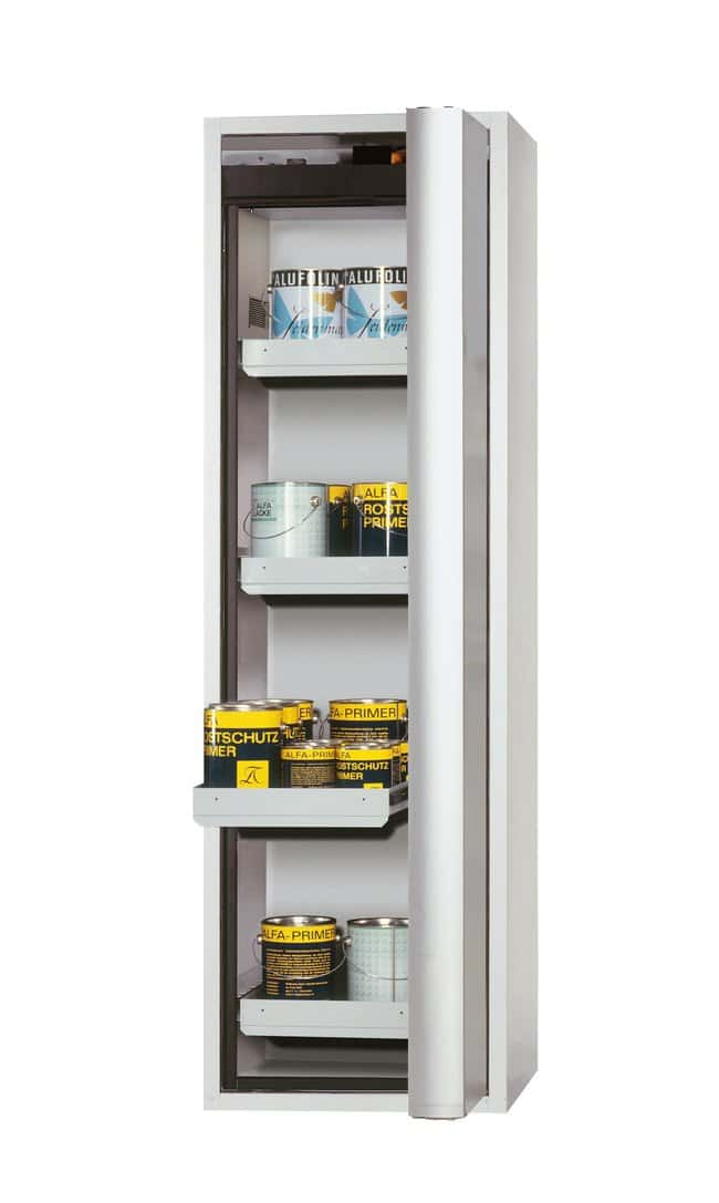 asecos™Type 90 Safety Storage Cabinet S-PHOENIX Vol.2-90 Right-Hinged Depth: 616.00 mm; 4xdrawer (sheet steel powder-coated), Light Gray asecos™Type 90 Safety Storage Cabinet S-PHOENIX Vol.2-90 Right-Hinged