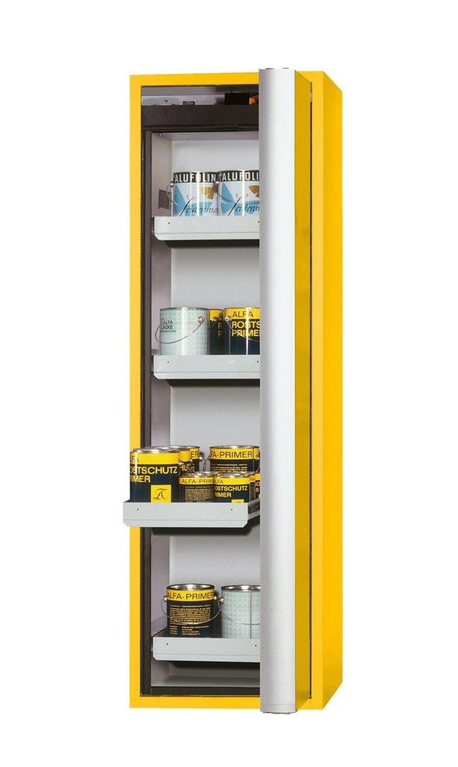 asecos™tipo 90 armario de seguridad S-PHOENIX Vol.2-90 Depth: 616.00 mm; 4xdrawer (sheet steel powder-coated), Yellow asecos™tipo 90 armario de seguridad S-PHOENIX Vol.2-90