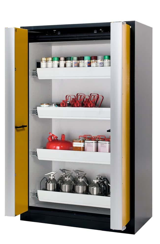 asecos™ Q-PHOENIX-90 Yellow Safety Storage Cabinets 4 x drawer (sheet steel powder-coated) asecos™ Q-PHOENIX-90 Yellow Safety Storage Cabinets