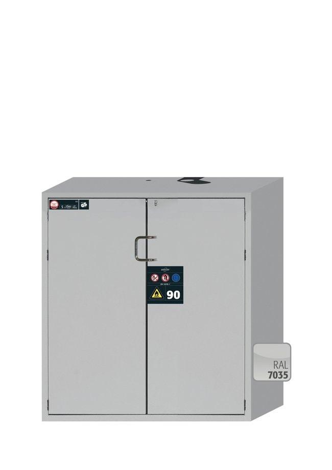 asecos™Typ 90 Sicherheitsschrank S-PEGASUS-90 3Wannenboden, 1Lochblecheinsatz (180mm), 1Bodenauffangwanne (pulverbeschichtetes Stahlblech), hellgrau asecos™Typ 90 Sicherheitsschrank S-PEGASUS-90
