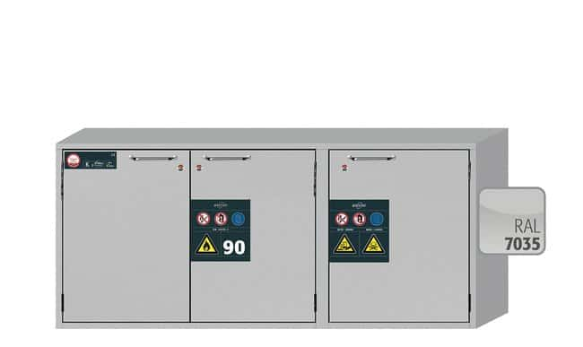 Asecos™K-UB-90 Combination Underbench Safety Storage Cabinets 3 wing doors Asecos™K-UB-90 Combination Underbench Safety Storage Cabinets