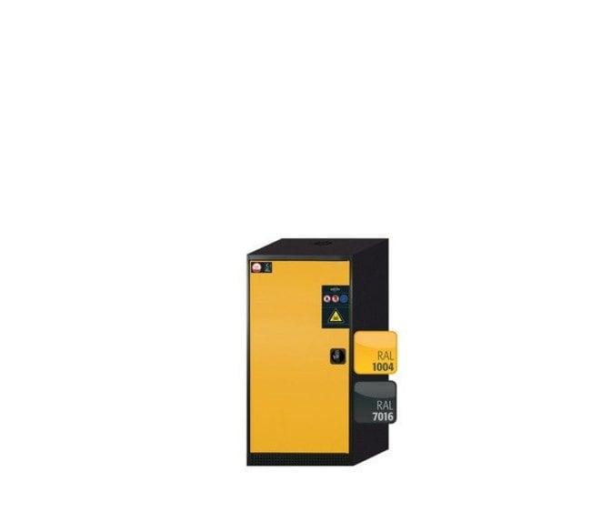Asecos™CS-CLASSIC One-Door Safety Storage Cabinet Yellow door; galvanized shelf Asecos™CS-CLASSIC One-Door Safety Storage Cabinet