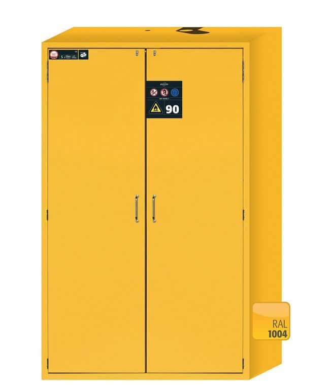 Asecos™S-CLASSIC-90 2-Door Light Gray Safety Storage Cabinets with Door Open Arrest System: Safety Cabinets Fume Hoods and Safety Cabinets