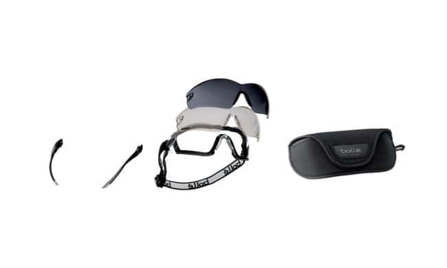 Bolle Protection Cobra Kit Safety Goggles ESP, Smoke, Clear General Purpose Safety Glasses