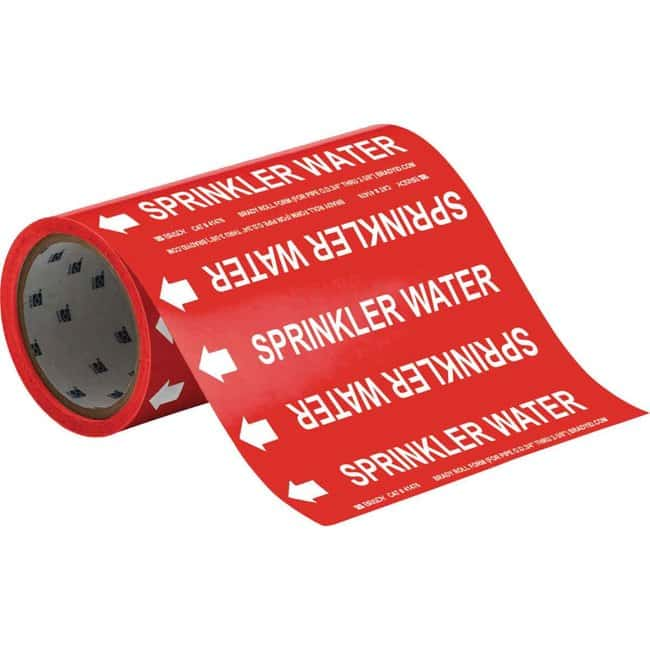 Brady™Roll Form European Standard Pipemarkers - Fire Fighting: Facility Maintenance and Safety Miscellaneous Products Facility Maintenance and Safety
