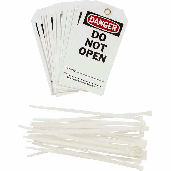 Brady™Tag Message: Do Not Open; Size: 75 x 160mm Brady™Tag