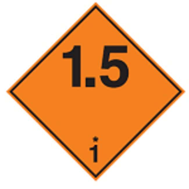 Brady™ Laminated Polyester ADR 1.5 1 Explosive Substances Transport Signs Dimensions (W x H): 297 x 297mm Brady™ Laminated Polyester ADR 1.5 1 Explosive Substances Transport Signs