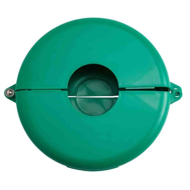 Brady™Polypropylene Gate Valve Lockouts Green; Width: 318.3mm; Height: 276.2mm Brady™Polypropylene Gate Valve Lockouts