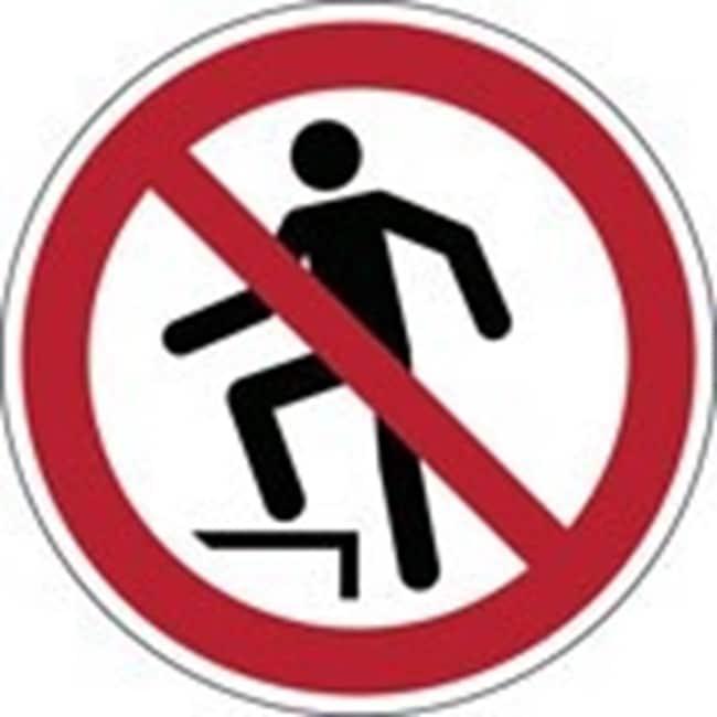 Brady™En PP: Panneau de sécurité ISO - Interdiction de marcher sur la surface 100mm de diamètre Brady™En PP: Panneau de sécurité ISO - Interdiction de marcher sur la surface