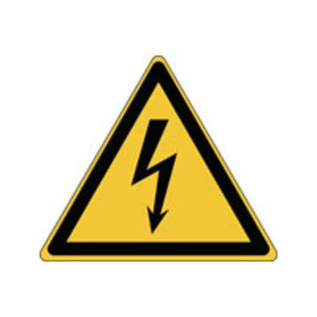 Brady™ Laminated Polyester: ISO Safety Sign - Warning; Electricity W x H: 315 x 273 mm Brady™ Laminated Polyester: ISO Safety Sign - Warning; Electricity