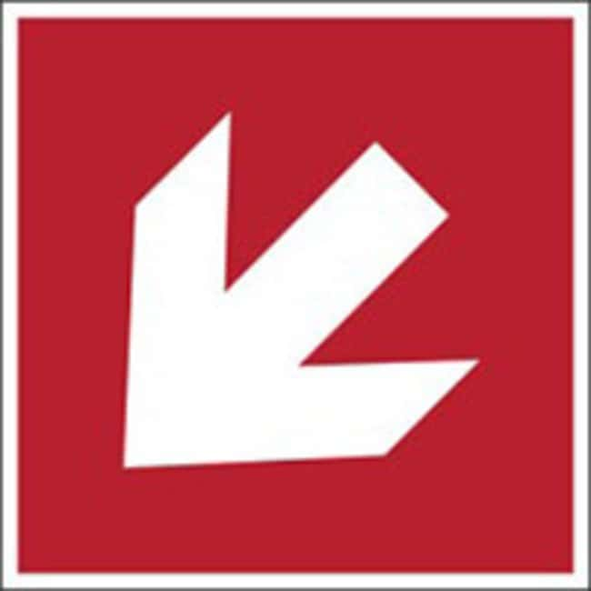 Brady™ Polypropylene: ISO Safety Sign - Direction arrow  45°, Top Right Corner, Red W x H: 315 x 315 mm Brady™ Polypropylene: ISO Safety Sign - Direction arrow  45°, Top Right Corner, Red