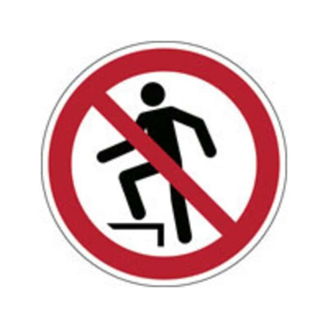 Brady™ Laminated Polyester: ISO Safety Sign - No stepping on surface 100 mm dia. Brady™ Laminated Polyester: ISO Safety Sign - No stepping on surface