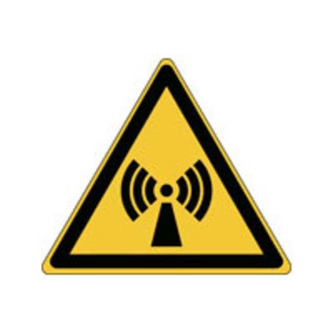 Brady™Aluminum: ISO Safety Sign - Warning; Non-ionizing radiation W x H: 315 x 273 mm Brady™Aluminum: ISO Safety Sign - Warning; Non-ionizing radiation