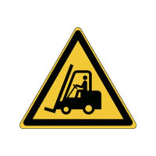 Brady™Laminated Polyester: ISO Safety Sign - Warning; Fork lift trucks and other industrial vehicles W x H: 315 x 273 mm Brady™Laminated Polyester: ISO Safety Sign - Warning; Fork lift trucks and other industrial vehicles