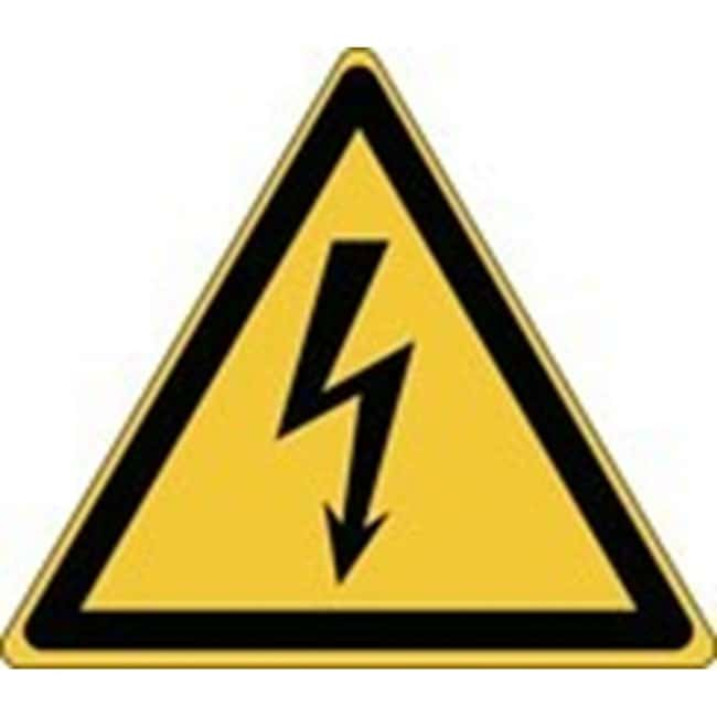Brady™Laminated Polyester: ISO Safety Sign - Warning; Electricity W x H: 100 x 87 mm Brady™Laminated Polyester: ISO Safety Sign - Warning; Electricity
