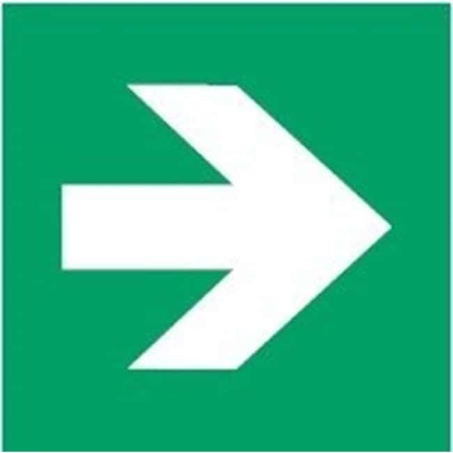 Brady™ Polypropylene: ISO Safety Sign - Direction arrow 90°, To the right, Green W x H: 400 x 400 mm Brady™ Polypropylene: ISO Safety Sign - Direction arrow 90°, To the right, Green