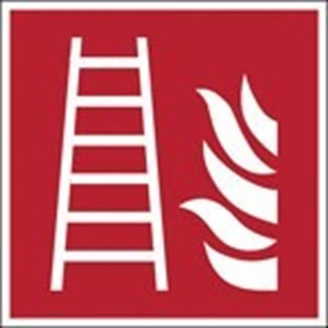 Brady™ Aluminum: ISO Safety Sign - Fire ladder W x H: 100 x 100 mm Brady™ Aluminum: ISO Safety Sign - Fire ladder