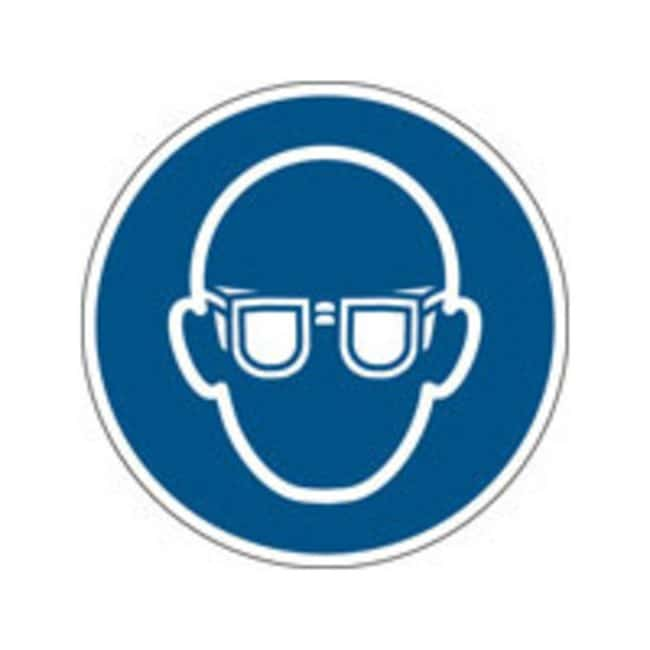 Brady™Aluminum: ISO Safety Sign - Wear eye protection 100 mm dia. Brady™Aluminum: ISO Safety Sign - Wear eye protection