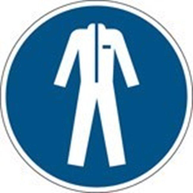 Brady™Polypropylene: ISO Safety Sign - Wear protective clothing 200 mm dia. Brady™Polypropylene: ISO Safety Sign - Wear protective clothing
