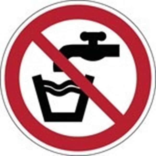 Brady™Laminated Polyester: ISO Safety Sign - Not drinking water 100 mm dia. Brady™Laminated Polyester: ISO Safety Sign - Not drinking water