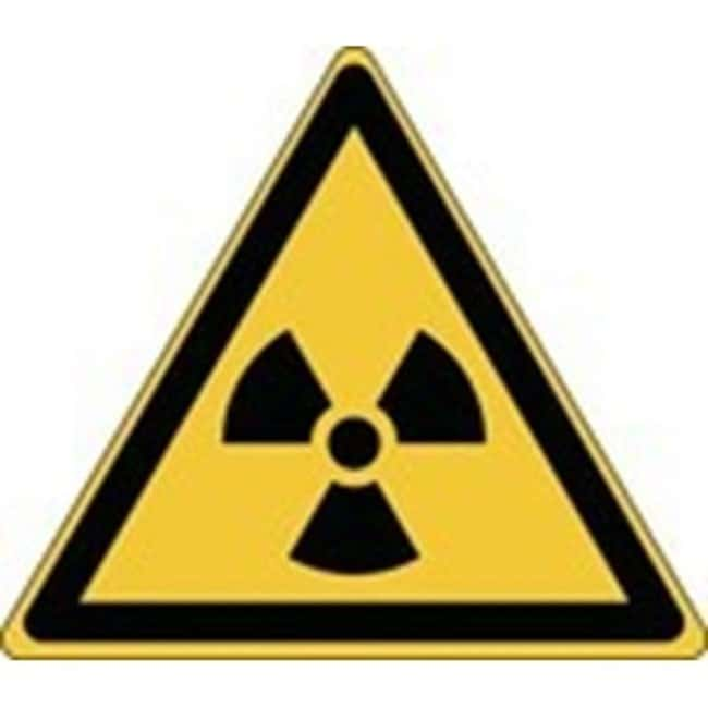 Brady™ Aluminum: ISO Safety Sign - Warning; Radioactive material or ionizing radiation W x H: 315 x 273 mm Brady™ Aluminum: ISO Safety Sign - Warning; Radioactive material or ionizing radiation