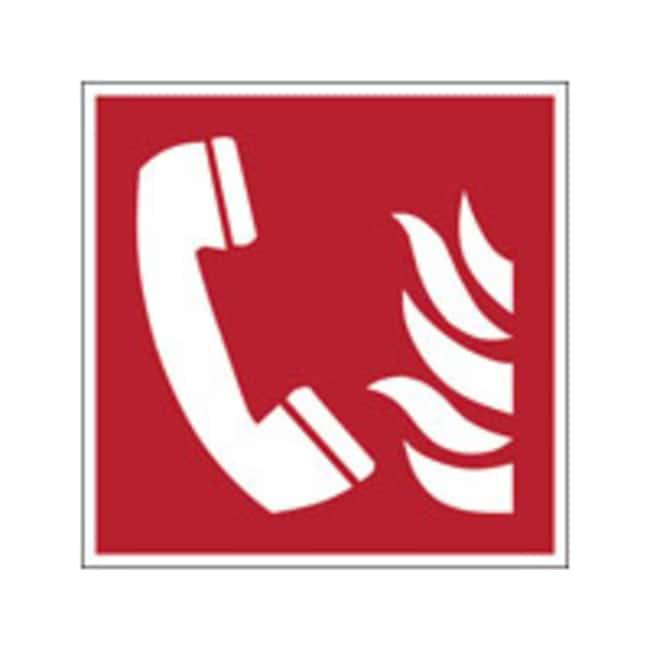 Brady™Polyester laminé: Panneau de sécurité ISO - Téléphone d'urgence incendie lxH: 315x315mm Brady™Polyester laminé: Panneau de sécurité ISO - Téléphone d'urgence incendie