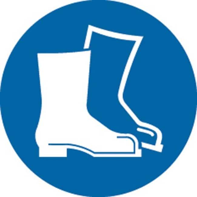Brady™Polypropylene: ISO Safety Sign - Wear safety footwear 400 mm dia. Brady™Polypropylene: ISO Safety Sign - Wear safety footwear