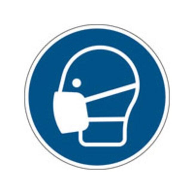 Brady™Polypropylene: ISO Safety Sign - Wear a mask 200 mm dia. Brady™Polypropylene: ISO Safety Sign - Wear a mask