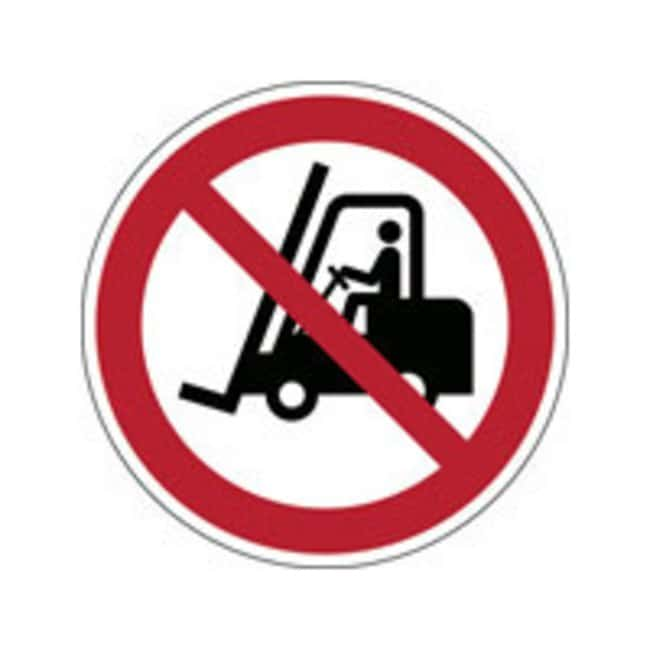Brady™ Laminated Polyester: ISO Safety Sign - No access for fork lift trucks and other industrial vehicles 200 mm dia. Brady™ Laminated Polyester: ISO Safety Sign - No access for fork lift trucks and other industrial vehicles