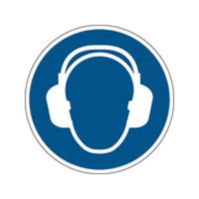 Brady™ISO 7010 Sign - Wear ear protection 315 mm dia. Brady™ISO 7010 Sign - Wear ear protection