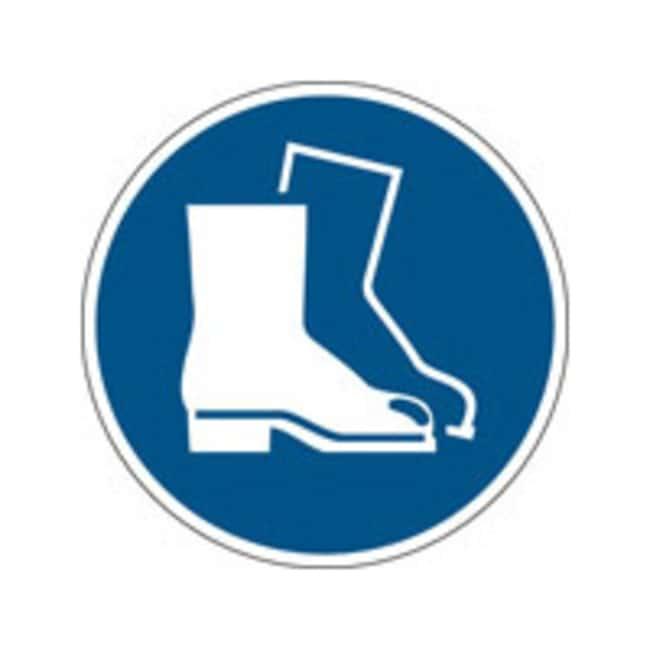 Brady™Polypropylene: ISO Safety Sign - Wear safety footwear 315 mm dia. Brady™Polypropylene: ISO Safety Sign - Wear safety footwear