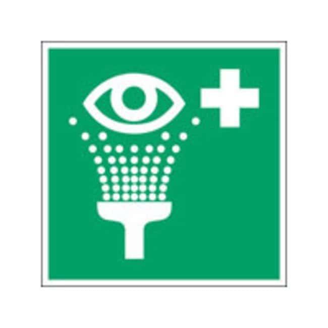 Brady™Aluminum: ISO Safety Sign - Eyewash station W x H: 100 x 100 mm Brady™Aluminum: ISO Safety Sign - Eyewash station