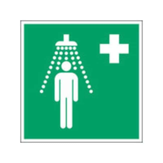 Brady™ Polypropylene: ISO Safety Sign - Safety shower W x H: 400 x 400 mm Brady™ Polypropylene: ISO Safety Sign - Safety shower