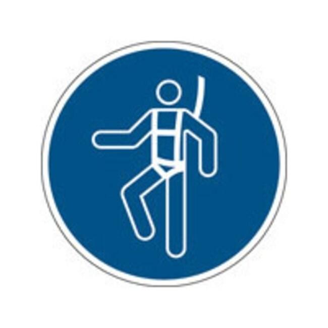 Brady™Laminierter Polyester: ISO-Sicherheitsschild– Sicherheitsgeschirr tragen 100mm Durchm. Brady™Laminierter Polyester: ISO-Sicherheitsschild– Sicherheitsgeschirr tragen
