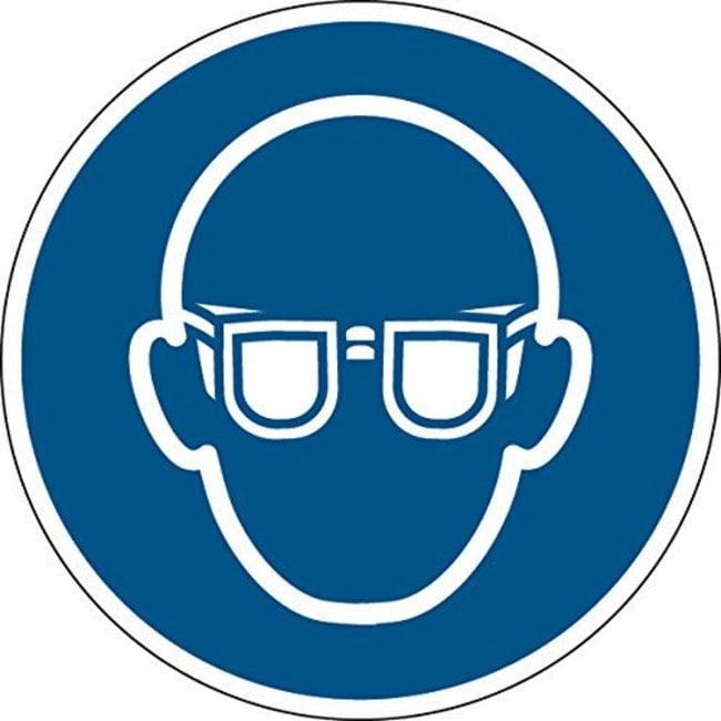 Brady™Panneau ISO 7010 - Port de lunettes de protection 200mm de diamètre Brady™Panneau ISO 7010 - Port de lunettes de protection