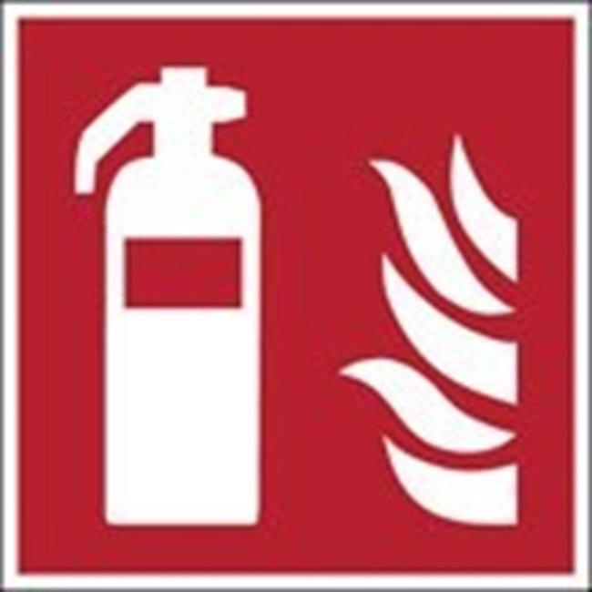 Brady™ISO 7010 Sign - Fire extinguisher W x H: 200 x 200 mm Brady™ISO 7010 Sign - Fire extinguisher