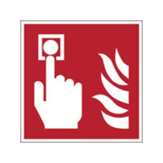 Brady™ Laminated Polyester: ISO Safety Sign - Fire alarm call point W x H: 315 x 315 mm Brady™ Laminated Polyester: ISO Safety Sign - Fire alarm call point