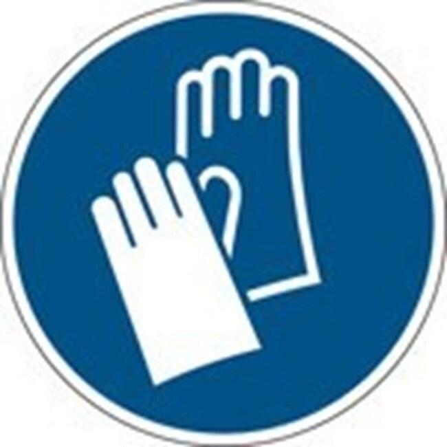 Brady™En aluminium: Panneau de sécurité ISO - Port de gants de protection 200mm de diamètre Brady™En aluminium: Panneau de sécurité ISO - Port de gants de protection