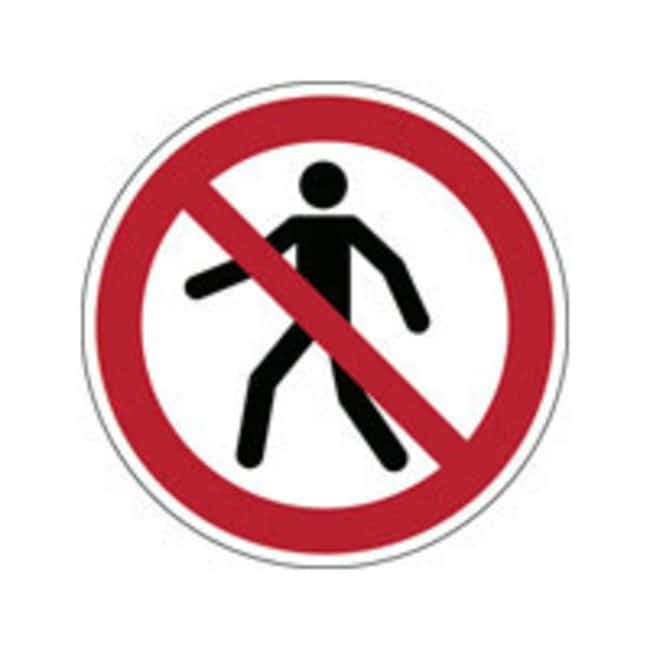Brady™Laminated Polyester: ISO Safety Sign - No thoroughfare 50 mm dia. Brady™Laminated Polyester: ISO Safety Sign - No thoroughfare