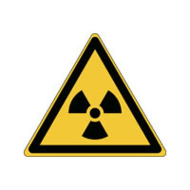 Brady™ Aluminum: ISO Safety Sign - Warning; Radioactive material or ionizing radiation W x H: 200 x 173 mm Brady™ Aluminum: ISO Safety Sign - Warning; Radioactive material or ionizing radiation