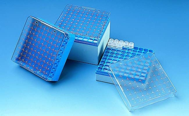 BRAND™ Storage Box For Cryogenic Tubes For Use With (Equipment): 3 mL, 4 mL and 5 mL cryogenic tubes BRAND™ Storage Box For Cryogenic Tubes