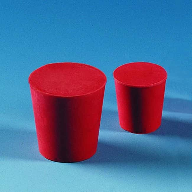 BRAND™ Natural Rubber Stopper Top Diameter: 18 mm; Bottom Diameter: 14 mm Products