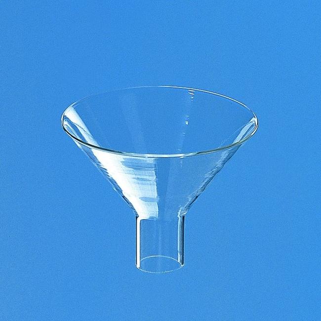 BRAND™Borosilicate Glass Powder Funnel Diameter (Metric)Top; 90 mm, Diameter (Metric) Stem: 25 mm BRAND™Borosilicate Glass Powder Funnel