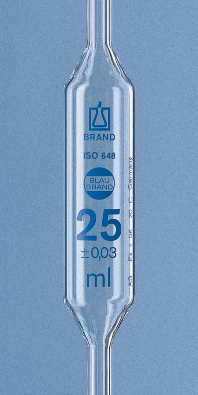 Brand™Blaubrand™ AR-GLAS™ Kolbenpipetten mit 1Markierung, mit Zertifikat Fassungsvermögen: 6ml Brand™Blaubrand™ AR-GLAS™ Kolbenpipetten mit 1Markierung, mit Zertifikat