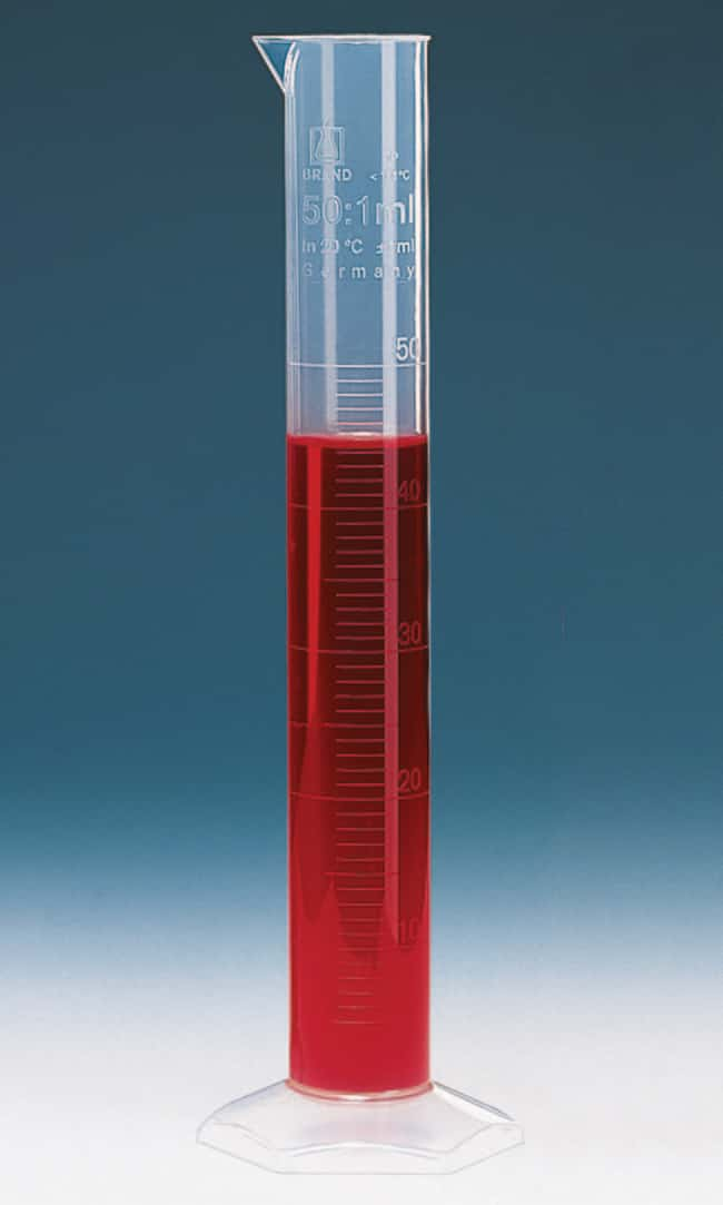 Brand™Class B Tall Form Measuring Cylinders with Embossed Scale Capacity: 250mL; Scale: Embossed Brand™Class B Tall Form Measuring Cylinders with Embossed Scale