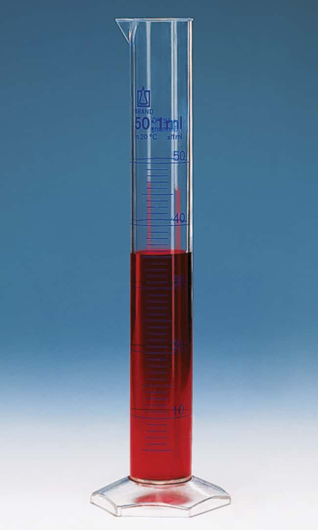 Brand™ Class A PMP Measuring Cylinders Capacity: 25mL Brand™ Class A PMP Measuring Cylinders