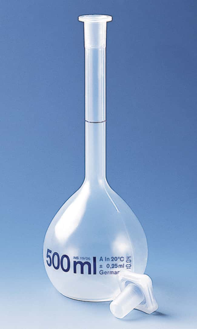 BRAND™ PMP Class A Measuring Flask Capacity (Metric): 500 mL BRAND™ PMP Class A Measuring Flask
